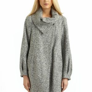 French connection keiza grey tweed coat sz2